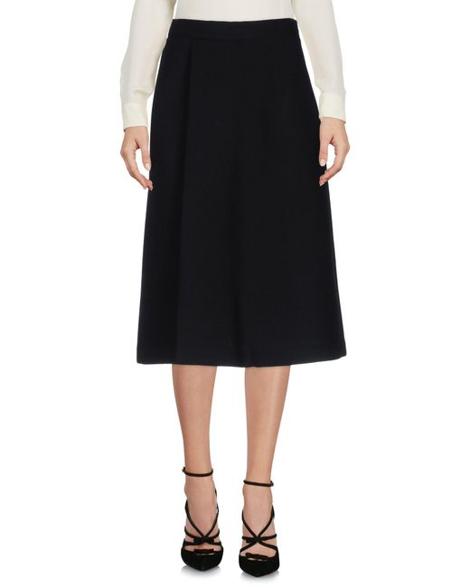 P.A.R.O.S.H. | Black Knee Length Skirt | Lyst