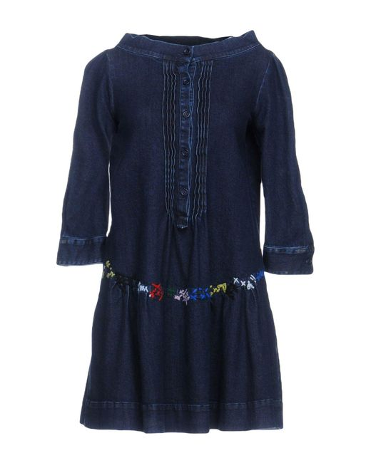 Love Moschino - Blue Short Dress - Lyst