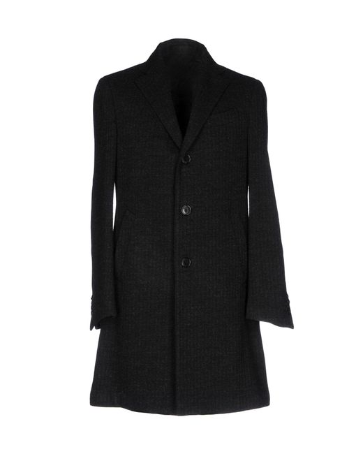 Lardini - Black Overcoat - Lyst