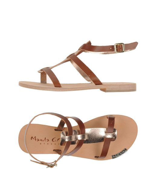 Manila Grace - Brown Sandals - Lyst