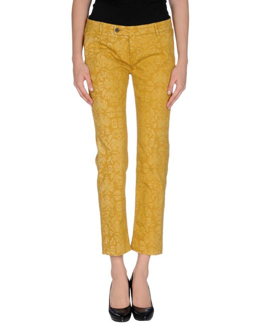 TRUE NYC - Yellow Casual Pants - Lyst