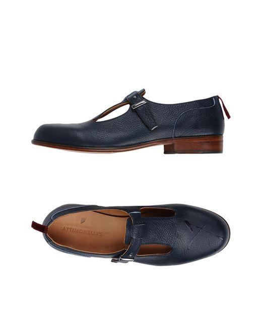 Attimonelli's - Blue Loafer for Men - Lyst