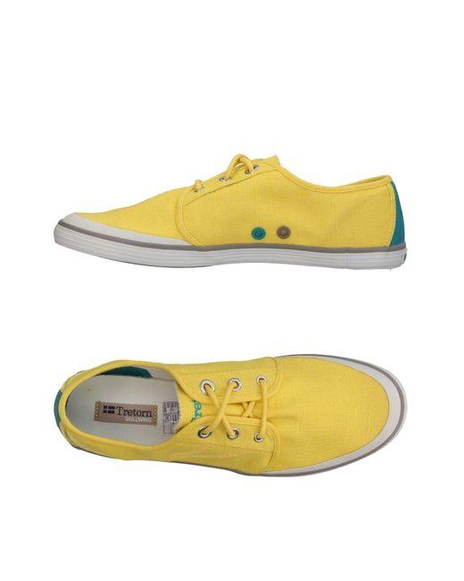 Tretorn - Yellow Low-tops & Sneakers for Men - Lyst