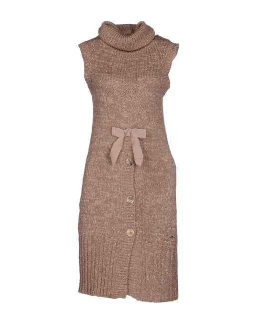 GAUDI | Brown Short Dress | Lyst
