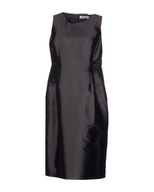 Jil Sander | Black Knee-length Dress | Lyst