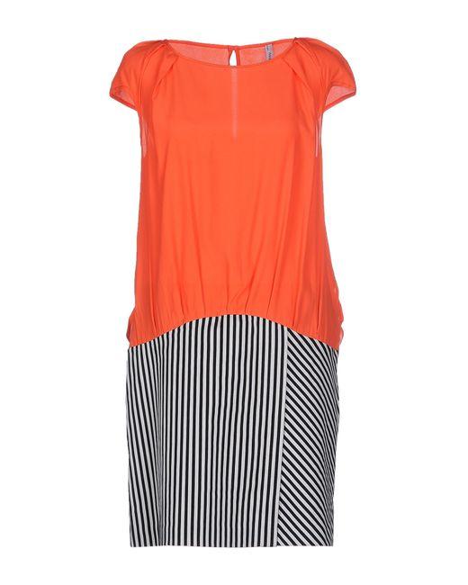 Pianurastudio | Orange Short Dress | Lyst