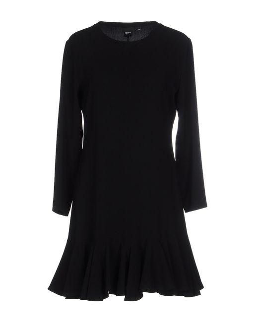 Aspesi | Black Short Dress | Lyst