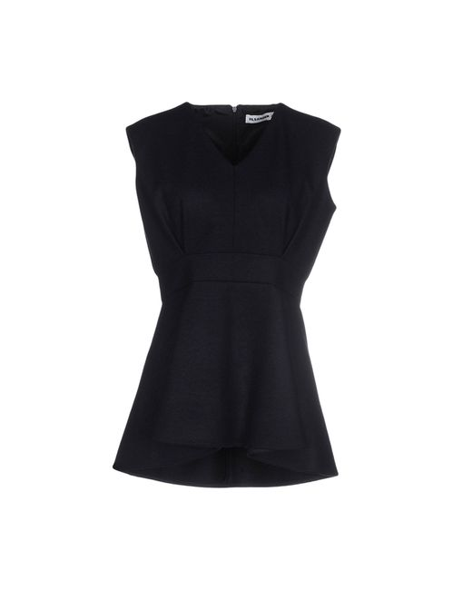 Jil Sander | Black Top | Lyst