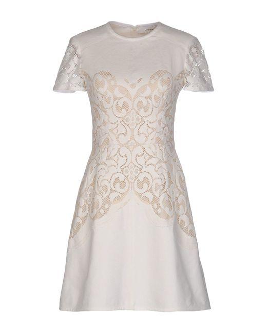 Lover | White Short Dress | Lyst