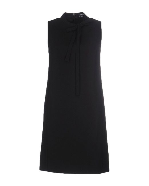 Theory | Black Jurinzi Fringe-trimmed Knitted Dress | Lyst