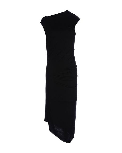 Jil Sander | Black 3/4 Length Dress | Lyst