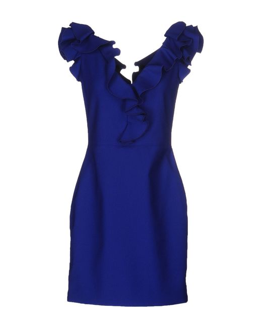 Lanvin | Blue Short Dress | Lyst