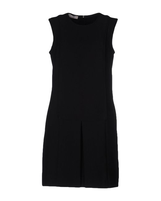 Stefanel | Black Short Dress | Lyst