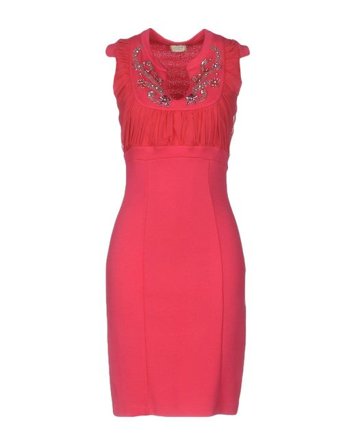 Met | Multicolor Short Dress | Lyst