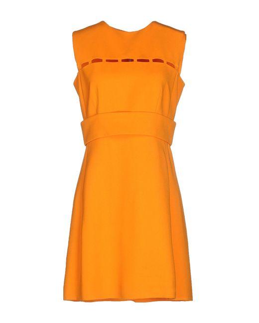 Emilio Pucci - Orange Short Dress - Lyst