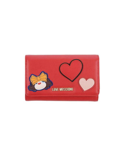 Love Moschino - Red Wallet - Lyst