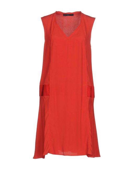 Blue Les Copains | Red Short Dress | Lyst