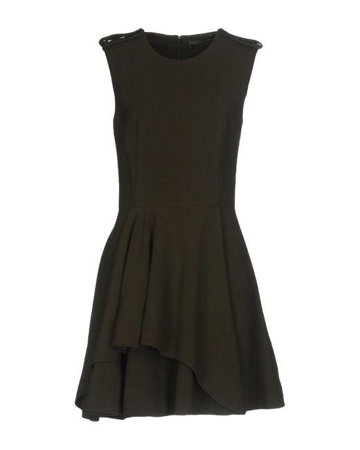 Alexander McQueen | Green Short Dress | Lyst