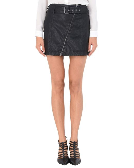 Free People - Black Mini Skirt - Lyst