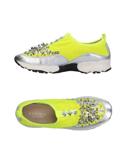 Carvela Kurt Geiger - Yellow Low-tops & Sneakers - Lyst