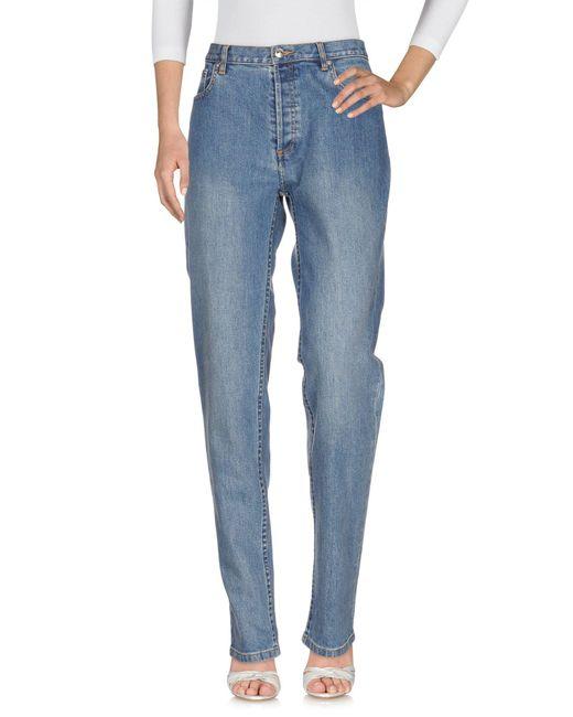A.P.C. - Blue Denim Trousers - Lyst