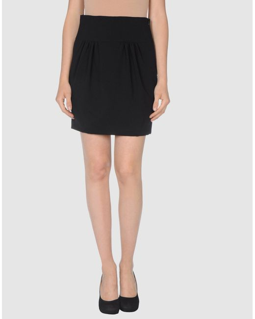Moschino | Black Knee Length Skirt | Lyst