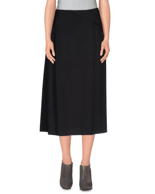 Jil Sander | Black 3/4 Length Skirt | Lyst