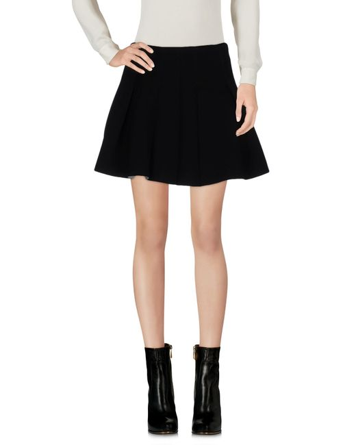 T By Alexander Wang | Black Scuba Neoprene Box Pleat Skirt | Lyst