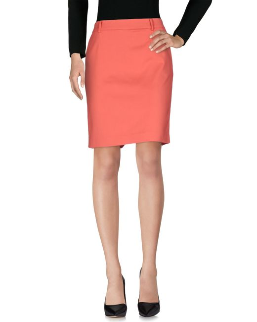 patrizia pepe knee length skirt in multicolour coral lyst