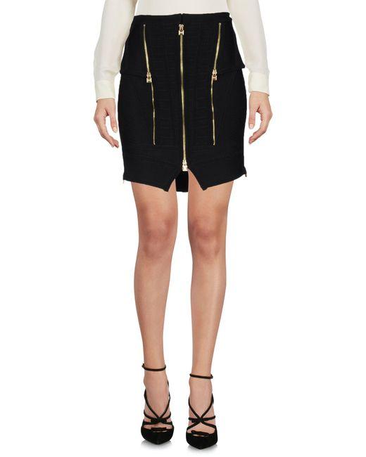 Hervé Léger | Black Knee Length Skirt | Lyst