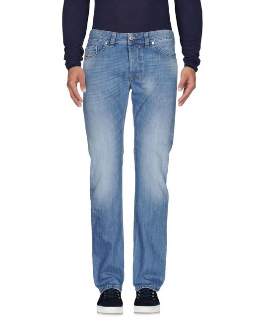 DIESEL - Blue Denim Pants for Men - Lyst