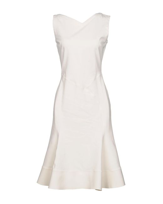 0cd0a6787a0 Antonio Berardi - White Knee-length Dress - Lyst ...