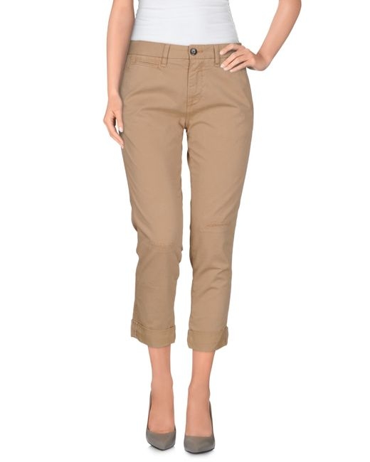 GAUDI | Natural 3/4-length Trousers | Lyst