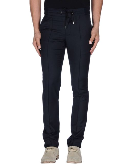 Emporio Armani | Blue Casual Pants for Men | Lyst