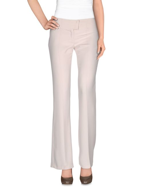 Pf Paola Frani | Natural Casual Trouser | Lyst