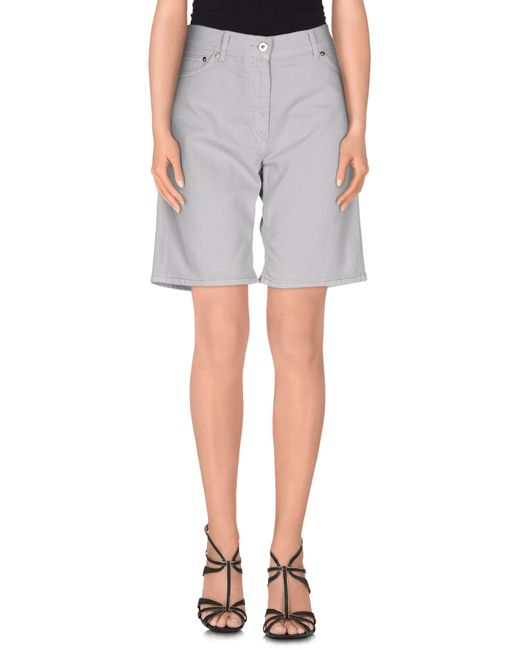 Dondup | Gray Denim Bermudas | Lyst