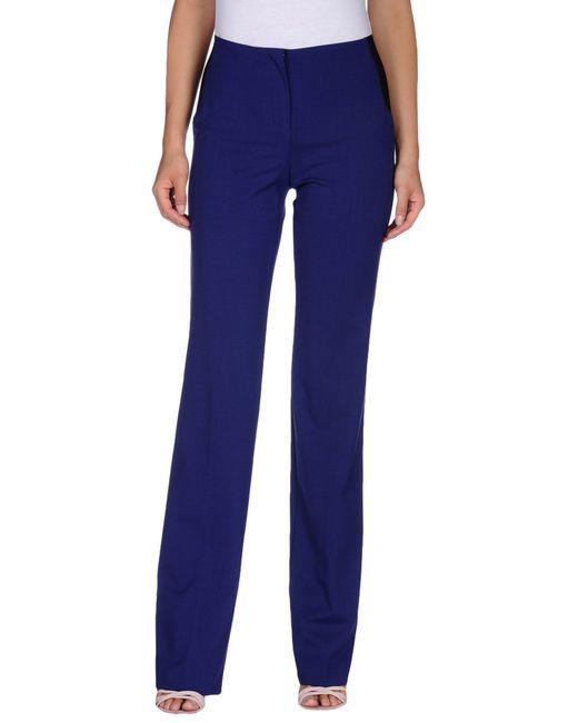 Les Copains | Purple Casual Trouser | Lyst