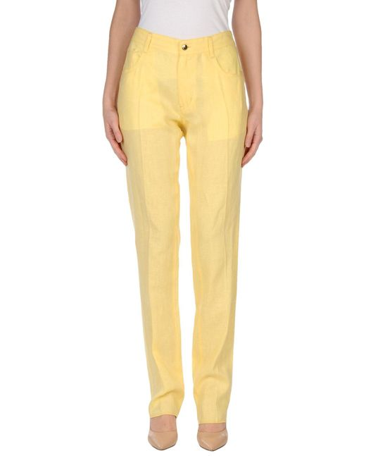 Just Cavalli | Yellow Casual Pants | Lyst