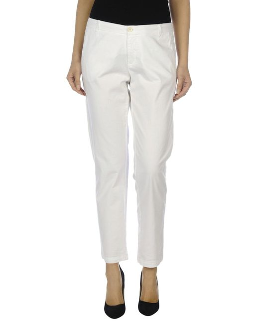 Fairly | White Casual Pants | Lyst