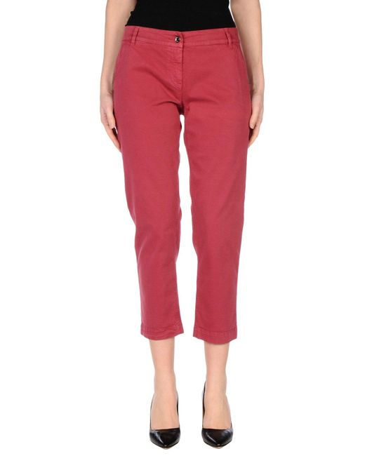 Dolce & Gabbana | Red Casual Pants | Lyst