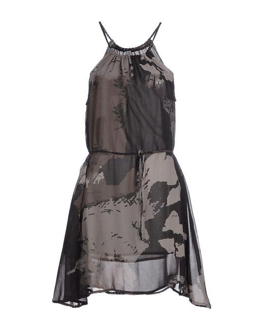 Ra-re - Gray Short Dress - Lyst