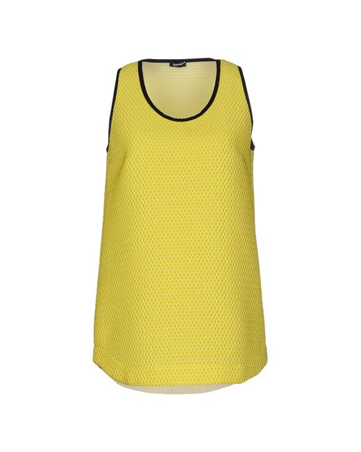 Jil Sander Navy   Yellow Tank Top   Lyst