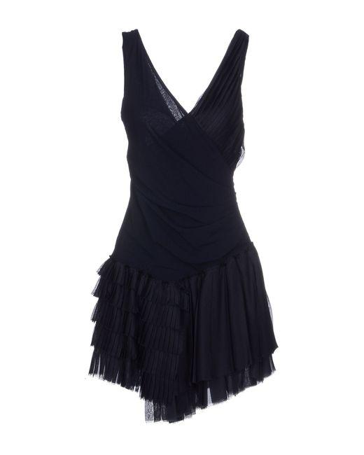 Dondup | Blue Short Dress | Lyst