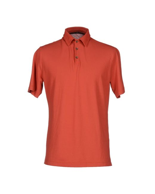 Zanone | Red Polo Shirt for Men | Lyst