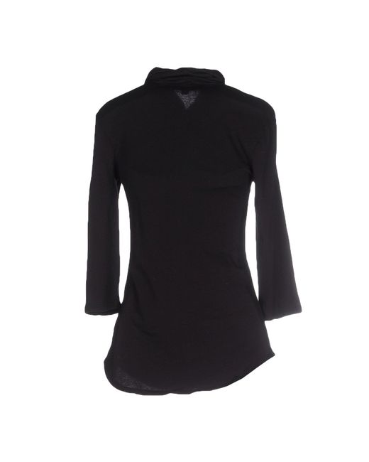 James perse t shirt in black lyst for James perse t shirts sale