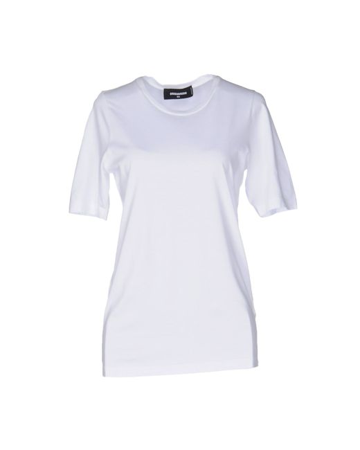 DSquared² | White T-shirt | Lyst