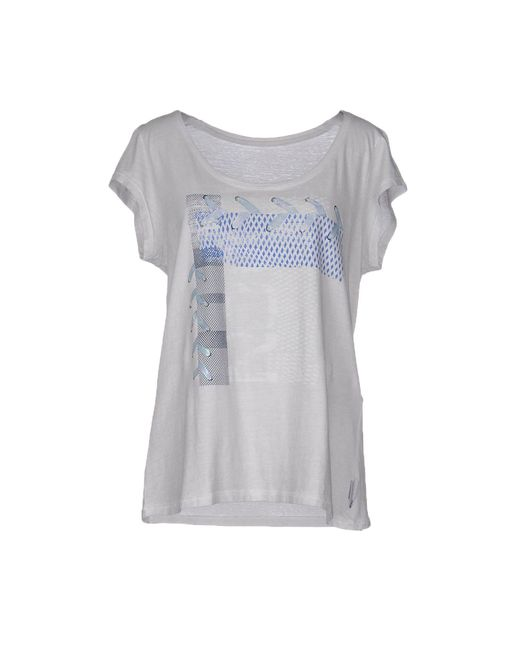 marc cain t shirt in grey lyst. Black Bedroom Furniture Sets. Home Design Ideas