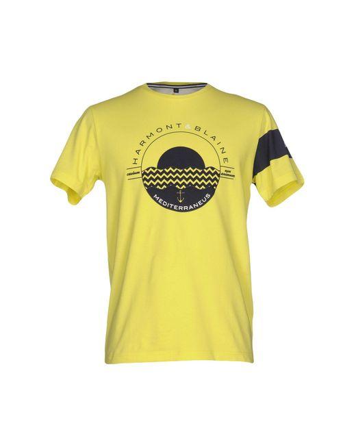 Harmont & Blaine | Yellow T-shirt for Men | Lyst