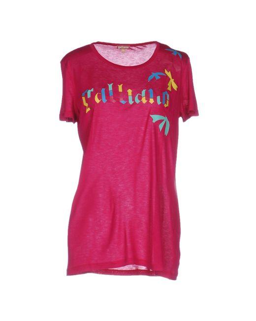 John Galliano | Multicolor T-shirt | Lyst