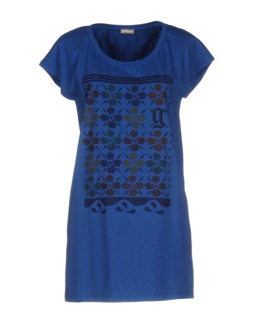 John Galliano   Blue T-shirt   Lyst